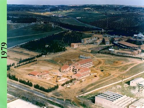 Vista aérea de los terrenos del Colegio de Infantes en 1979
