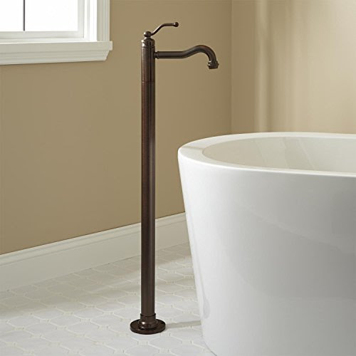 Leta Freestanding Tub Faucet Brushed Nickel Moseasmishin
