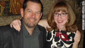 Lisa O\'Neill Hill and her husband, Toby, pose for a photo at a dinner in 2011.