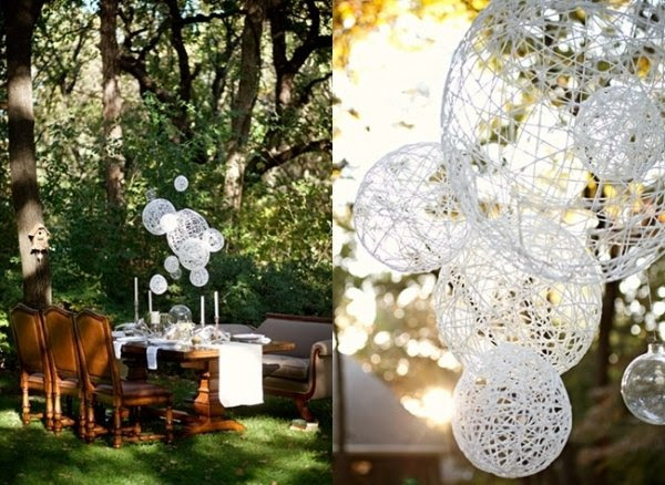Make a String-Ball Chandelier » Curbly | DIY Design Community