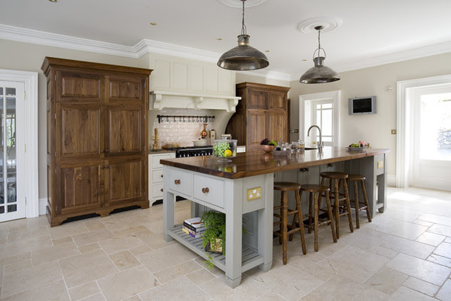Farrow and Ball Hardwick White kitchen island