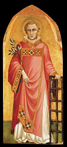 San Lorenzo, dipinto di Spinello Aretino, sec. XIV