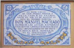Imagen de Azulejo: Nace Manuel Machado