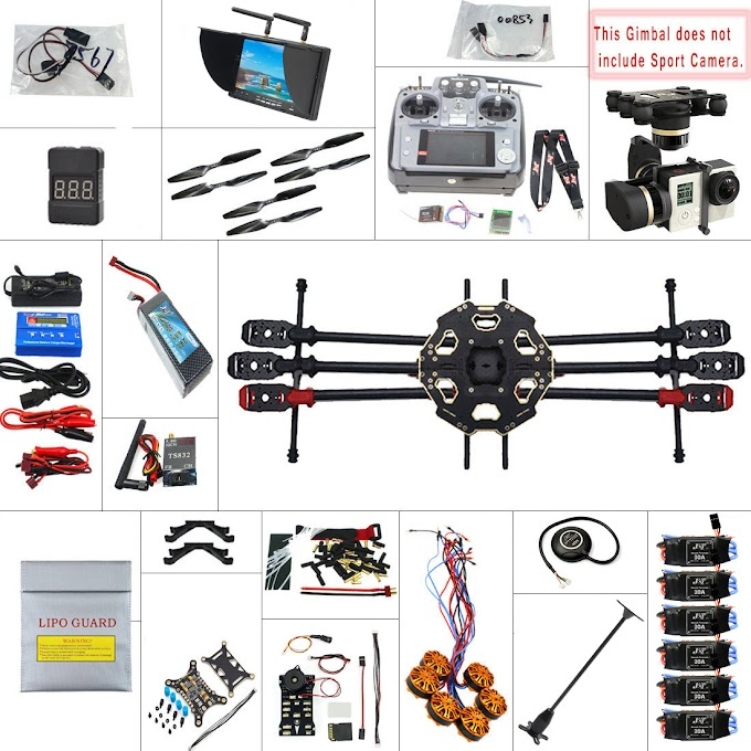 JMT 680PRO PX4 GPS 2.4G 10CH 5.8G Video FPV RC Hexacopter Unassembled Full Kit RTF DIY RC Drone Combo MINI3D Pro Gimbal F07807-F