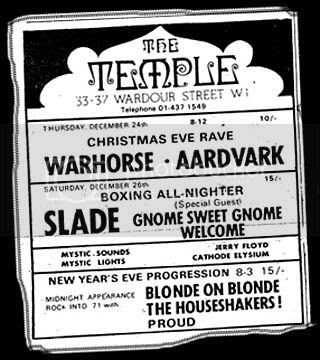 26th December 1970 Temple, Melody Maker December 26th 1970 Temple