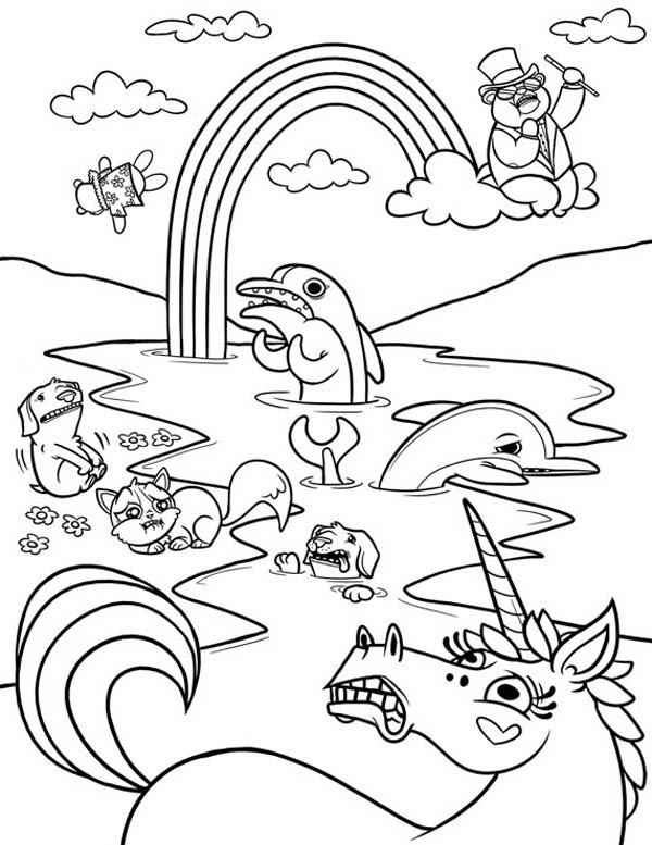 Dolphins - Coloring Pages for Adults | 777x600