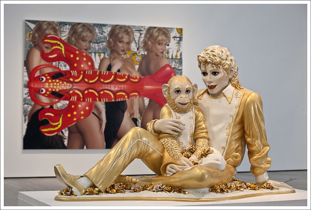 Jeff Koons' Michael and Bubbles