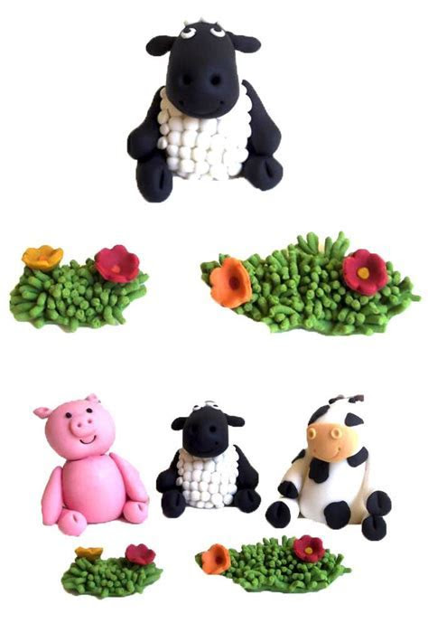 Farm Animal Cake Toppers   Kasy Cake Toppers