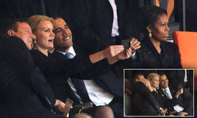 Obama and Cameron selfie
