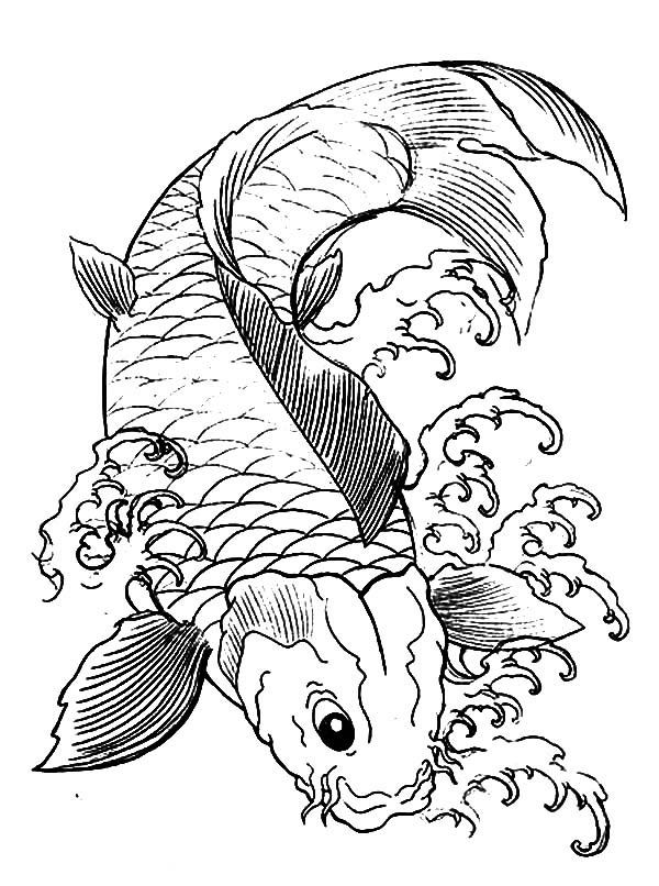Japanese Koi Fish Coloring Pages - Download & Print Online ...