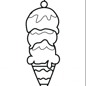 ice cream scoop coloring page at getdrawings  free download