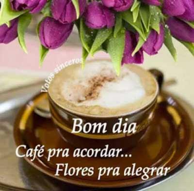 Café Pra Acordar Flores Pra Alegrar Status E Imagens