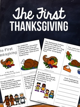 The First Thanksgiving ~ Mini-Book and Reflection / Close Read