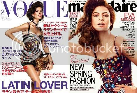 Eva Mendes Marie Claire Bianca Balti Vogue Japan