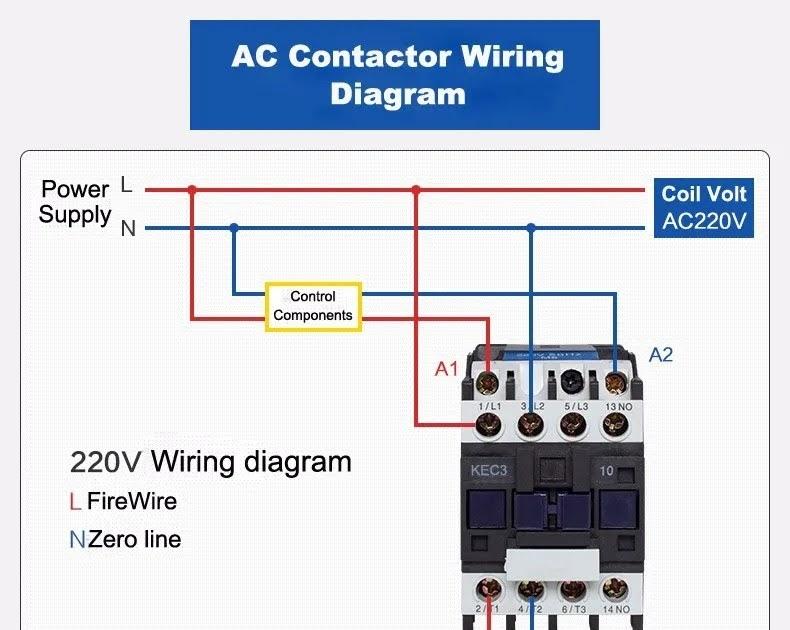 cjx2 contactor wiring diagram