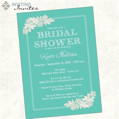 bridal shower invitation wording monetary gifts   bridal