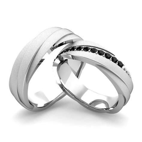 Matching Wedding Bands Black Diamond Rolling Wedding Ring