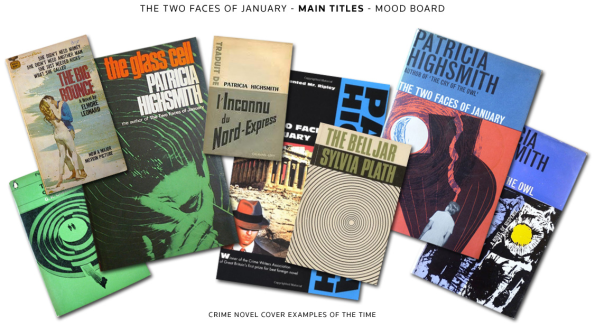 The Two Faces of January Titles Mood Board