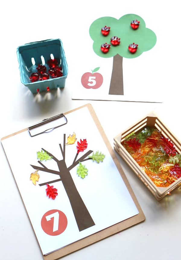 fall math mats from no time for flash cards