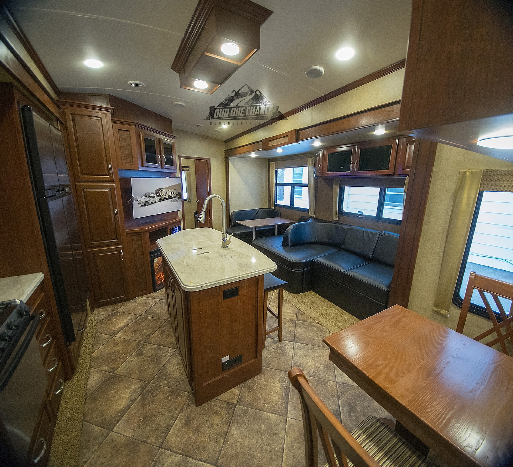 Rv Remodel Living Room Update Evergreen Bay Hill 385bh