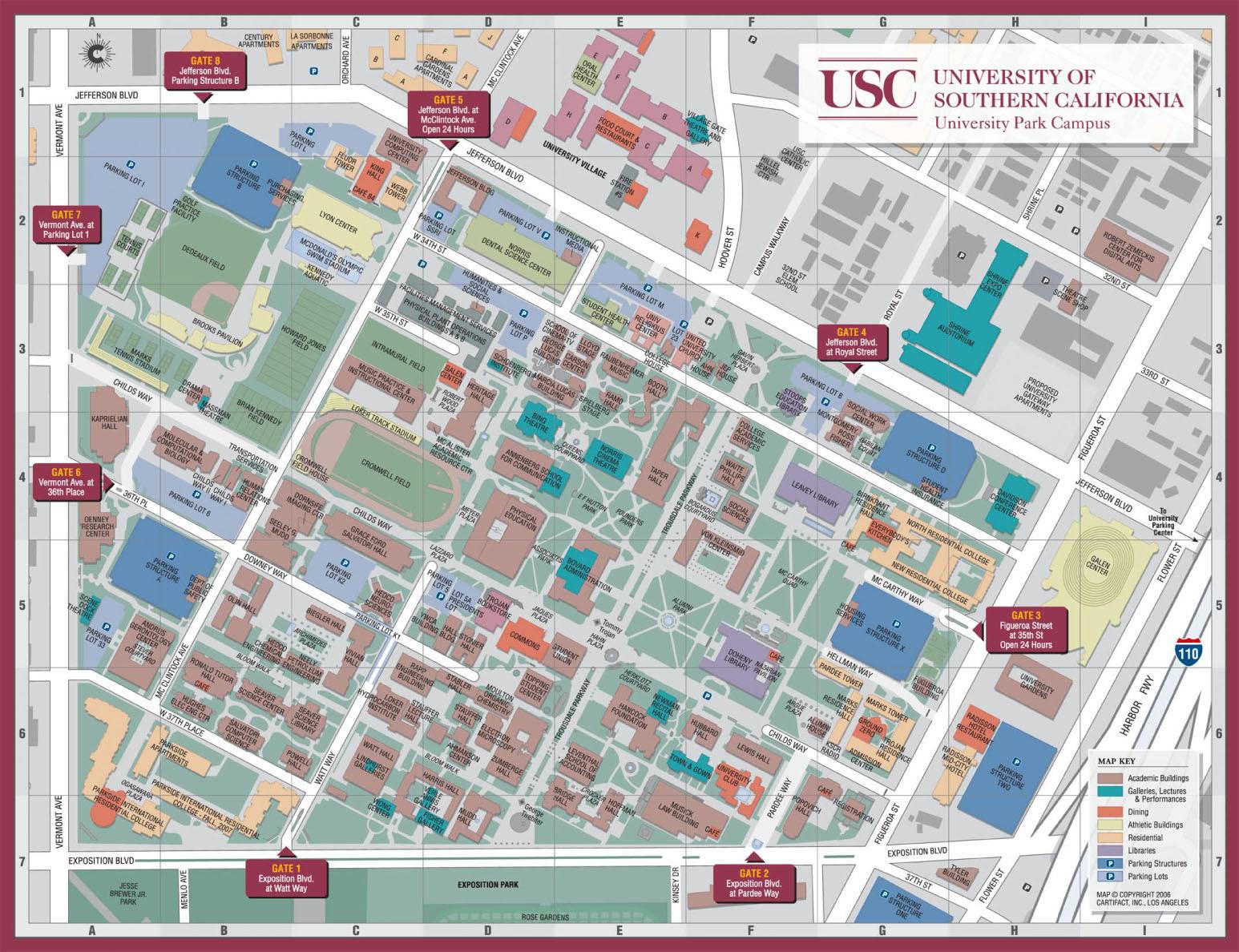 Usc Campus Map - CYNDIIMENNA