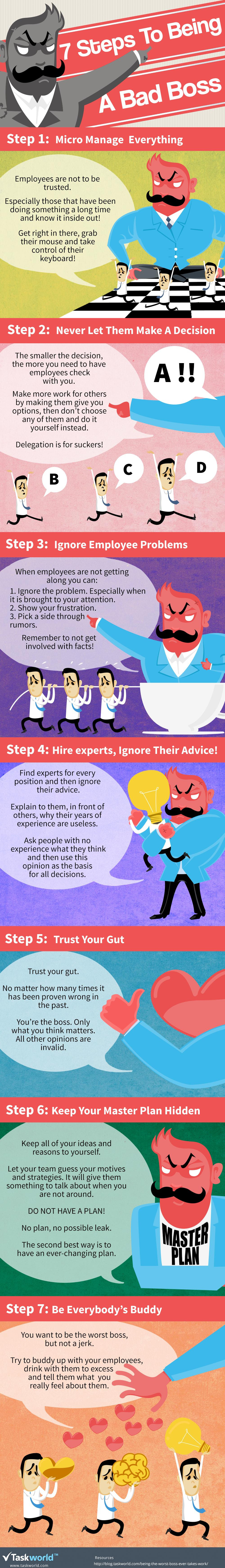 Infographic: 7 Steps to Being a Bad Boss