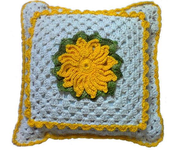 capa para almofada em crochê