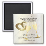 Congratulations on Your Wedding Day 2 Inch Square Magnet