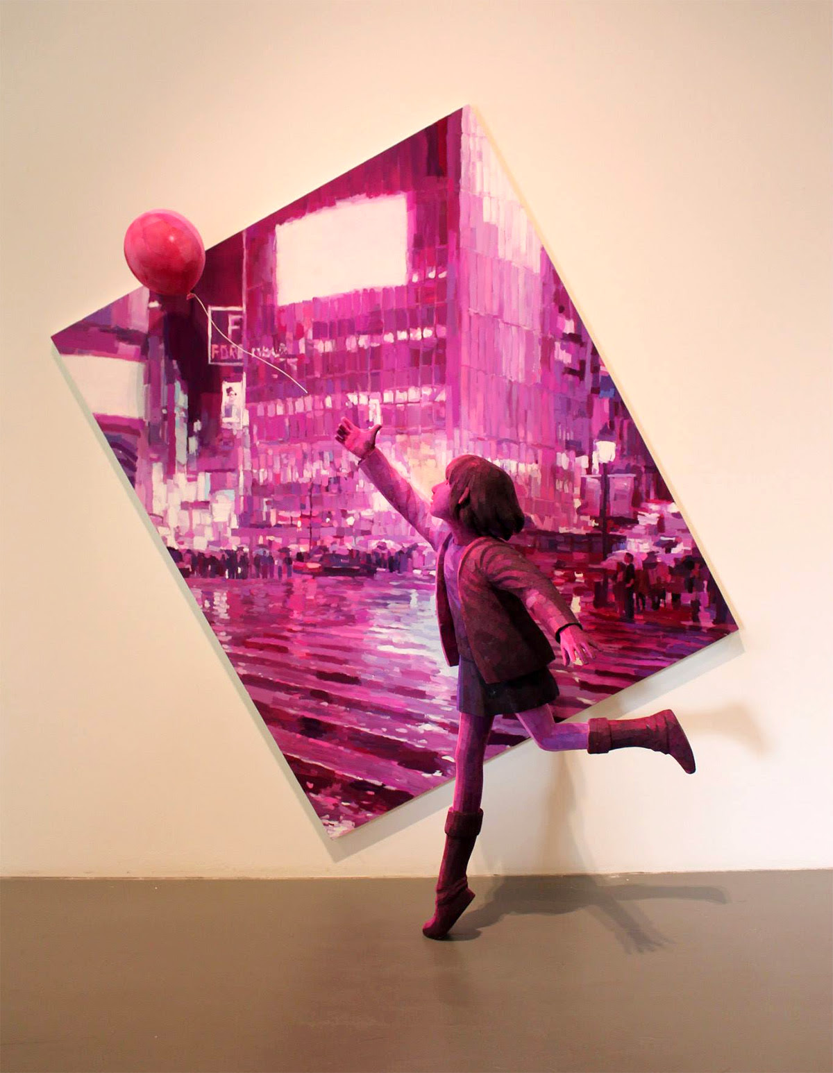 3D Sculptural Paintings by Shintaro Ohata sculpture painting optical illusion