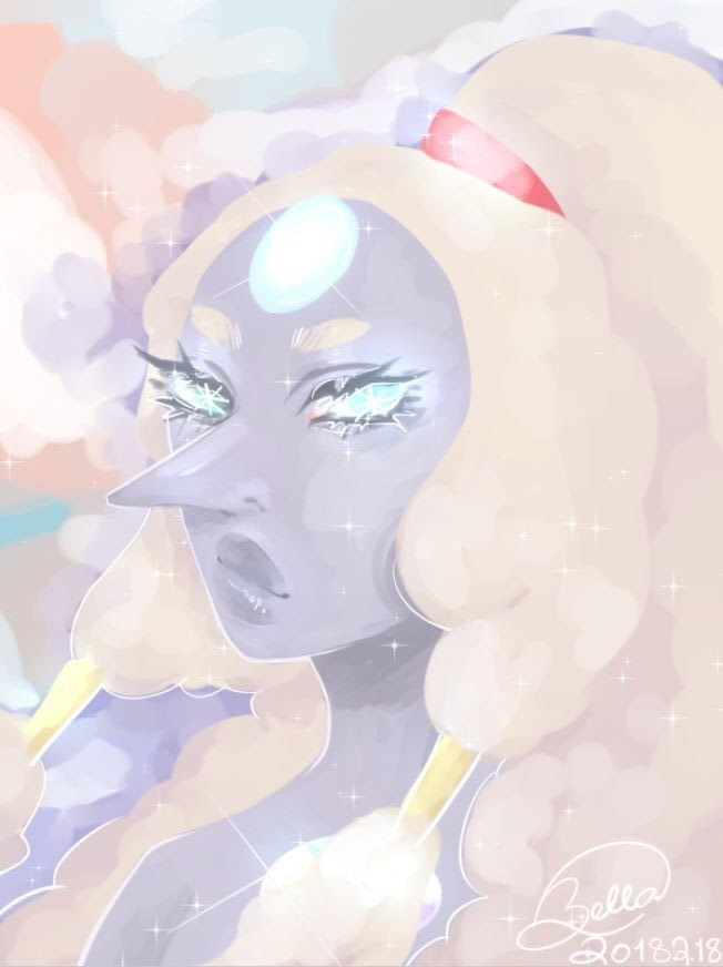 I drew Opal from Steven Universe on Clip Studio Paint ;-; I only had the trial version so I couldn't save it HD.