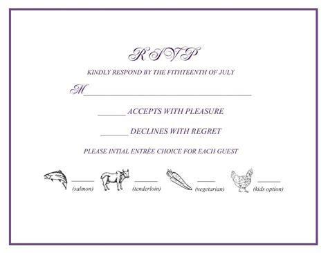 wedding rsvp w/ menu selections   wedding: Favorites
