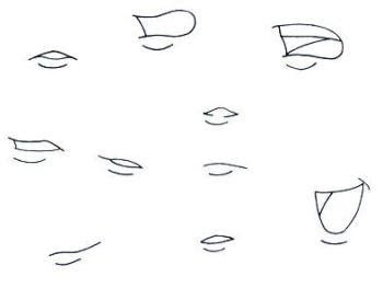 draw anime mouths step  step anime mouths