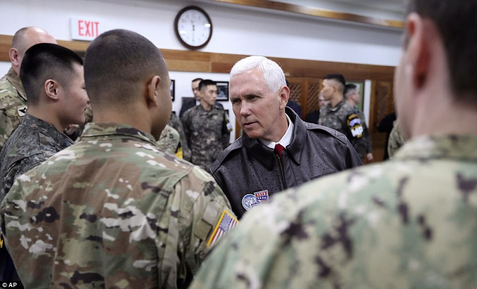 Pence says the 'era of strategic patience is over' with North Korea, expressing impatience with the willingness of the North Korean regime to move toward ridding itself of nuclear weapons and ballistic missiles