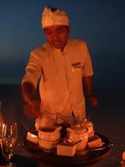 Serving up the second rijsttafel platter