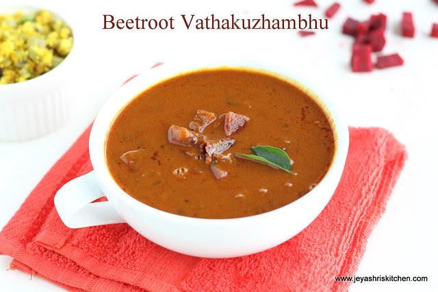 beet root vathakuzhambhu 3