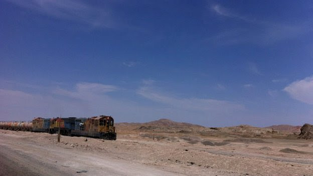 A mining train, Atacama Desert, Chile