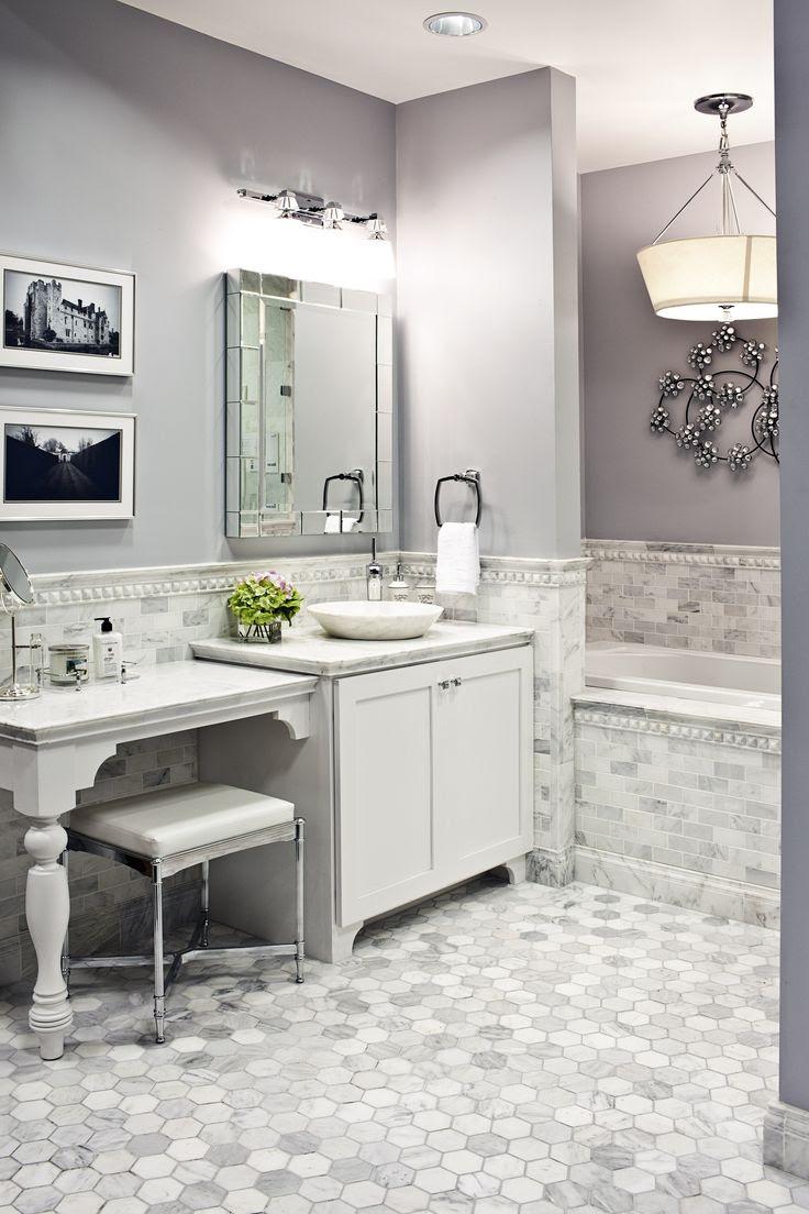 #carrara #marble #bathroom