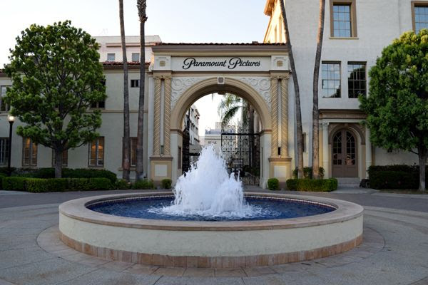 A snapshot of the Bronson Gate at Paramount Pictures in Hollywood...on July 31, 2017.