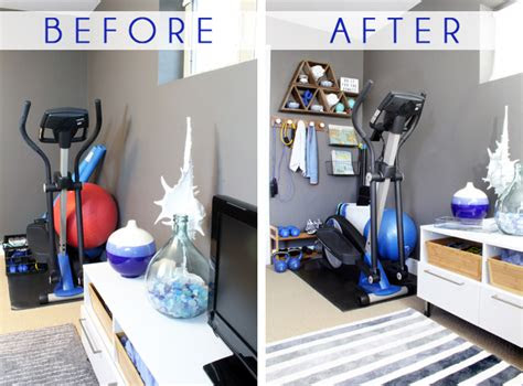 stylish home gym ideas  small spaces blue  style
