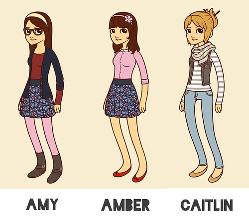 hipster cartoon bloggers