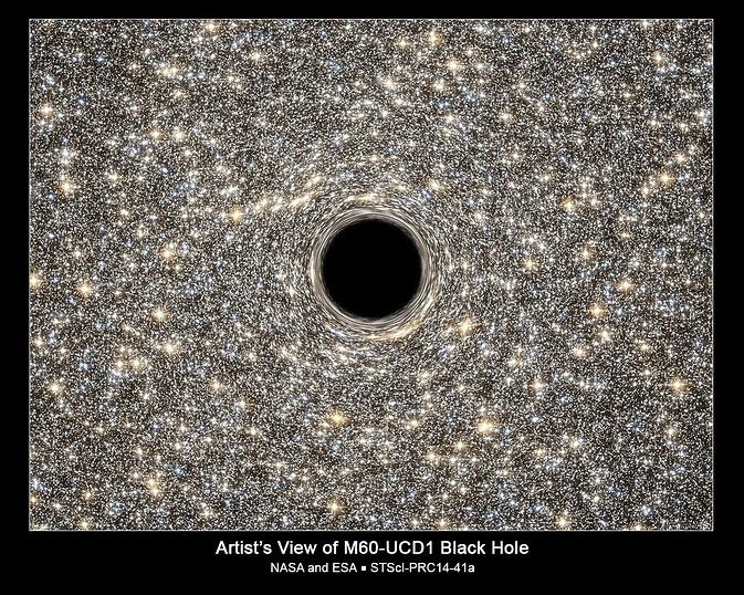Artist's View of M60-UCD1 Black Hole