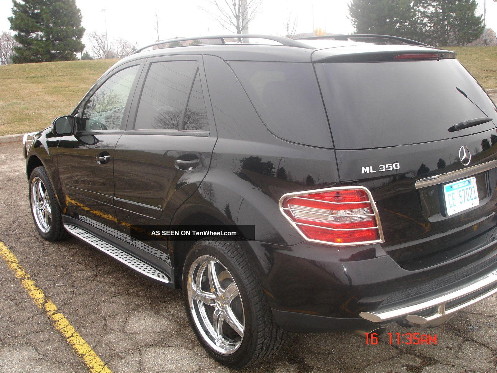 2007 Mercedes - Benz Ml350 Black Suv 4 - Door 3. 5l; 20 ...
