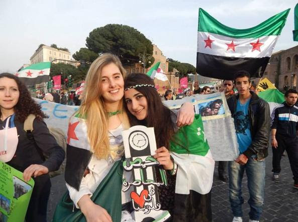 Greta e Vanessa ,2 Italian hostages have been freed .by terrorists from Siria