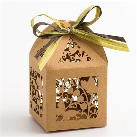 Kraft Filigree Butterfly Favour Boxes at Favour This