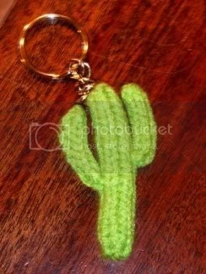 Free Knitting Pattern Keychain : The Crafty Cattery: Knitted Saguaro Cactus Pattern for Keychain