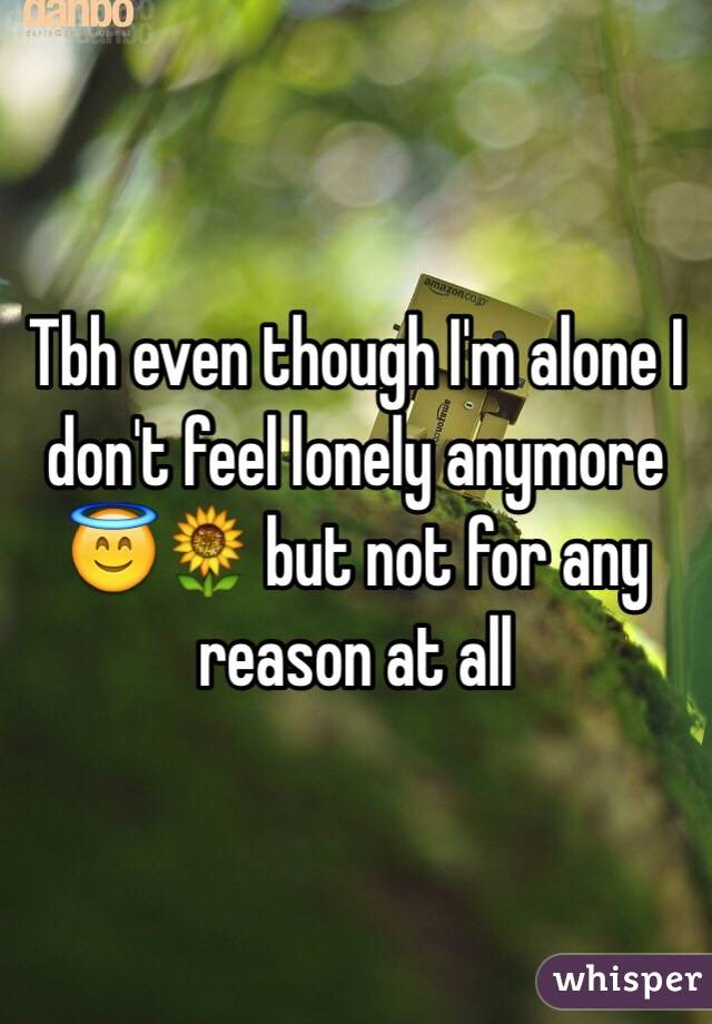 Tbh Even Though Im Alone I Dont Feel Lonely Anymore But Not