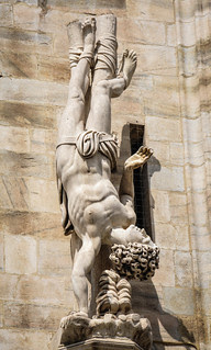 Sculpture on the Duomo di Milano (Milan Cathedral) Milan Italy