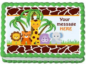 BABY ANIMALS JUNGLE SAFARI Edible image cake topper decoration | eBay
