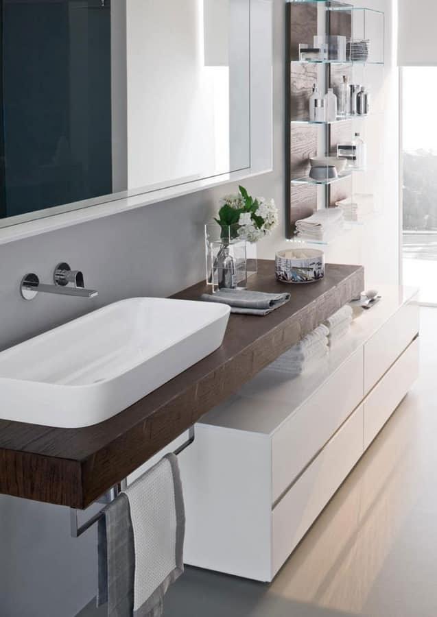 badezimmermöbel modular mit ovalen keramischen