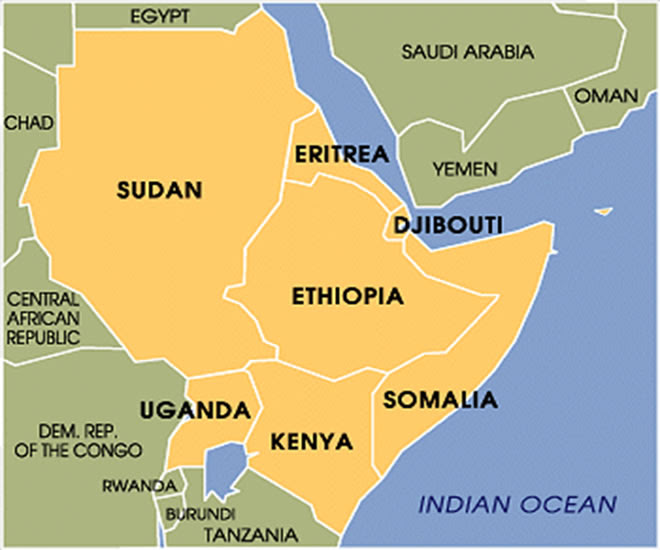 The Horn Of Africa Map | Map Of Africa